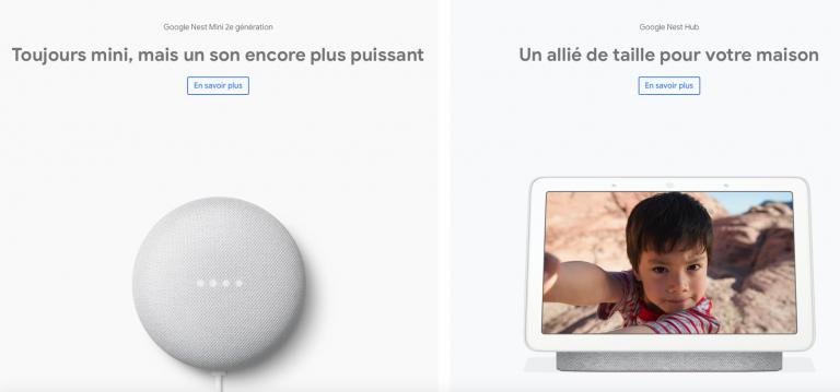 Google lance la Nest Mini et le Nest Hub en Belgique